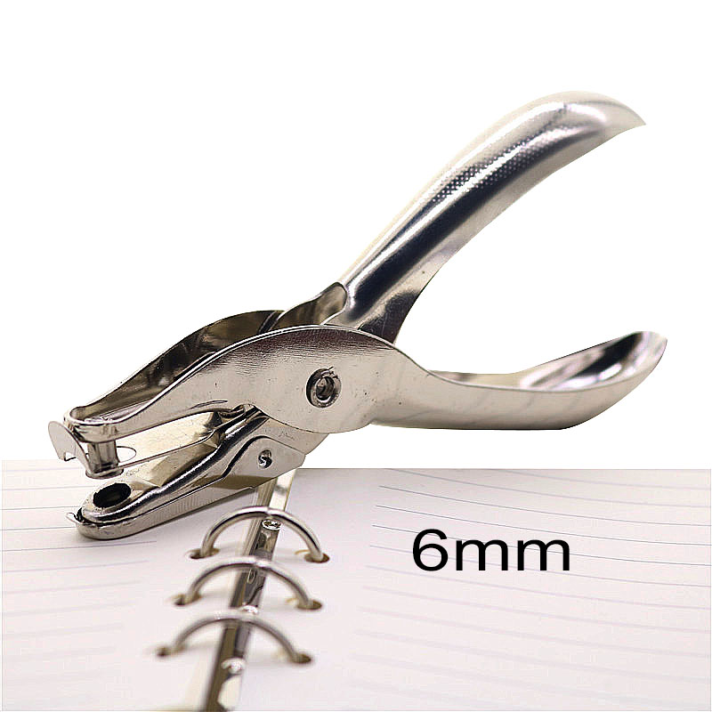 School Office Metal Single Hole Puncher Hand Paper Punch Single Hole Scrapbooking Punches 8 Pages All Metal Materials 1pcs