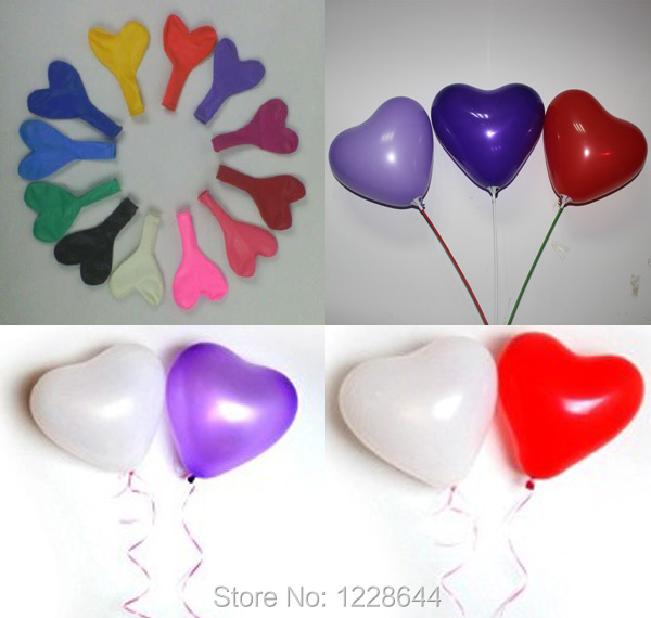 Best price heart shape latex balloons wedding decoration supplies best price heart shape latex balloons wedding decoration supplies standard size 200pcslot made in junglespirit Image collections