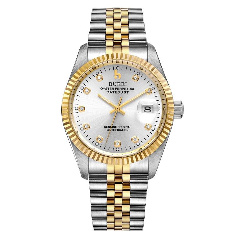 BUREI 5003 Switzerland watches men luxury brand oyster perpetual datejust MIYOTA automatic mechanical white relogio Masculino