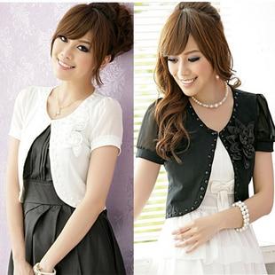Short design cardigan top short sleeve small cape formal dress ...