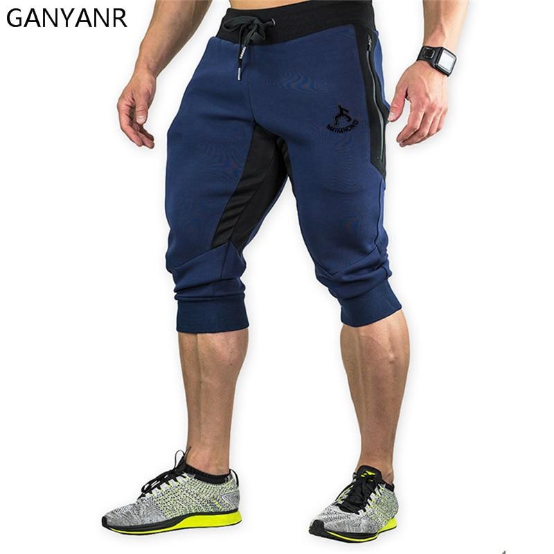 GANYANR Running Shorts Men Gym Sport Basketball Athletic Leggings Soccer Tennis Crossfit Volleyball Fitness Boxer Marathon