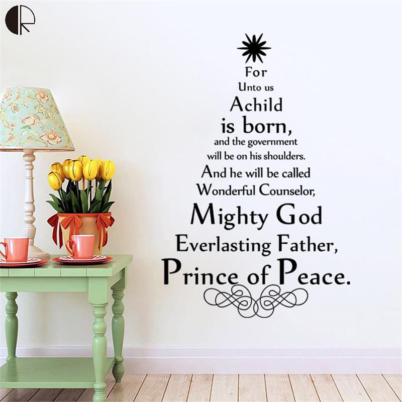 Online Shop Character Christmas Tree DIY Home Life Creed Wall - Christmas wall decals removable