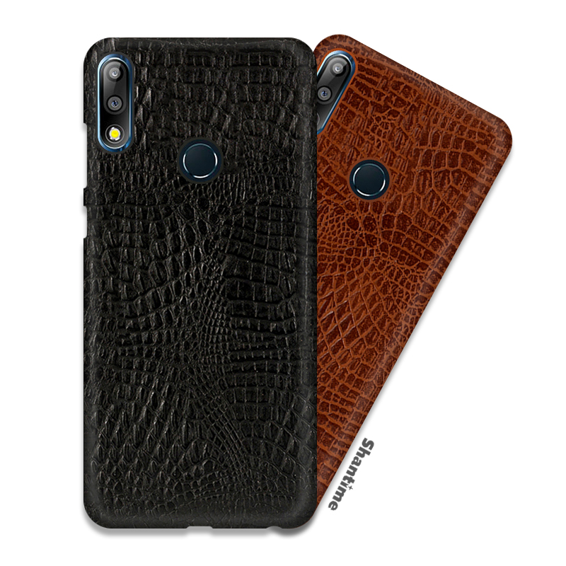 Crocodile Skin PU Leather Case For Asus Zenfone Max Pro M2 ZB631KL Phone Case For Asus Zenfone Max M2 ZB633KL Business Case