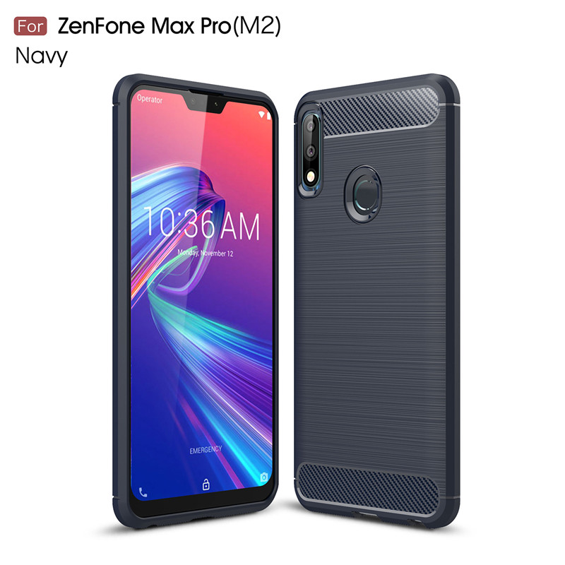For Asus Zenfone Max Pro M2 Case Silicone Hard Bumper Anti knock Phone Case For Asus Zenfone Max Pro M2 ZB631KL Cover BSNOVT in Fitted Cases from Cellphones Telecommunications