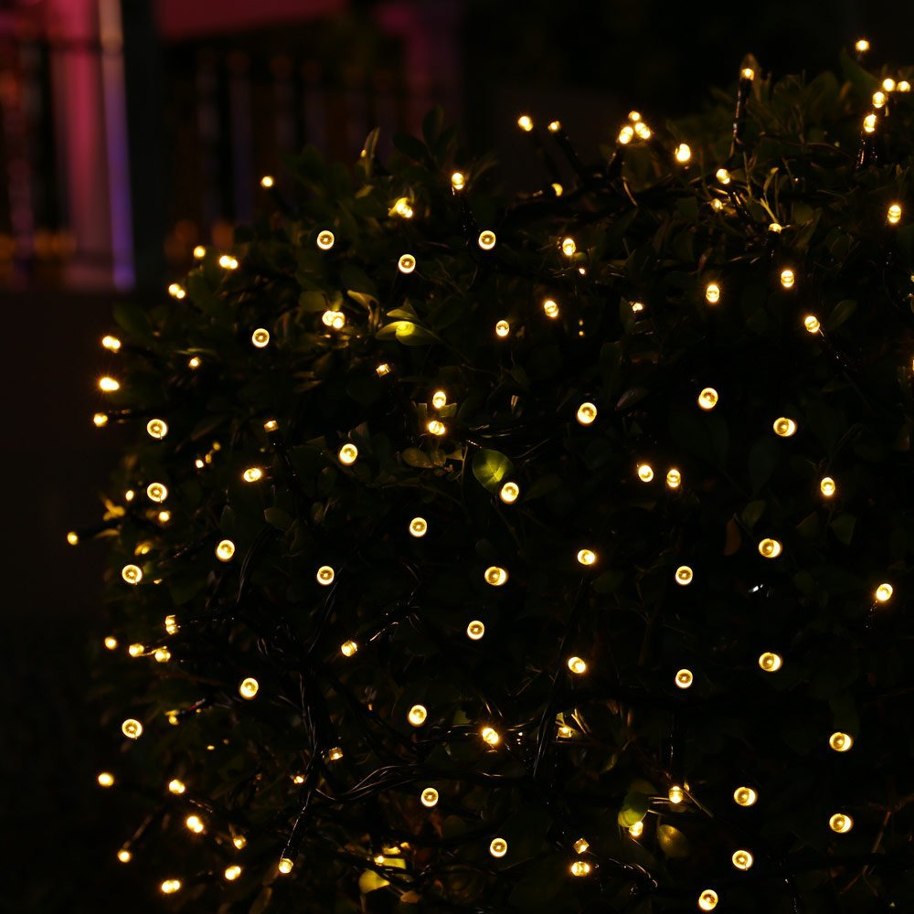solar christmas lights 200 led string lights ambiance lighting for outdoor patio lawn landscape fairy garden home wedding in solar lamps from lights