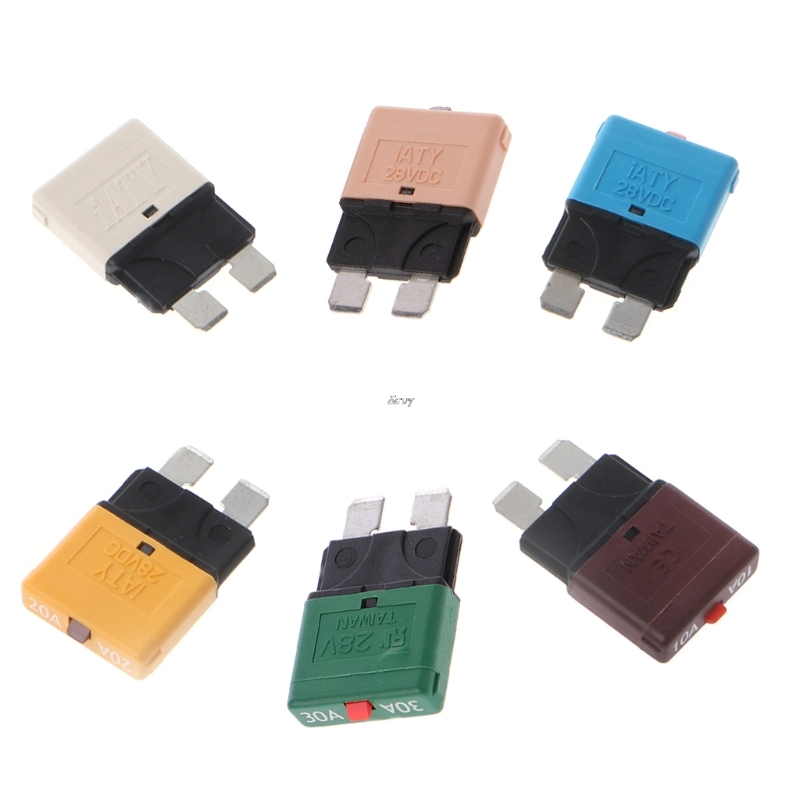 Circuit Breaker Blade Fuse 28V Resettable 5-30A Marine Rally Automotive