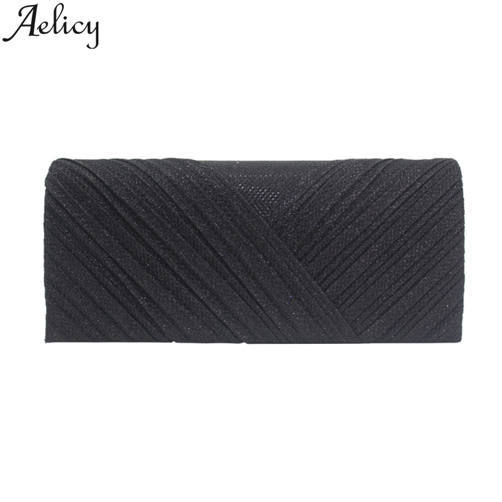 Aelicy 2019 Fashion Women Solid Ruched Embroidery Cocktail Party Bag Ladies Tote Phone Bag Evening Clutch bags Luxury Handbags 4