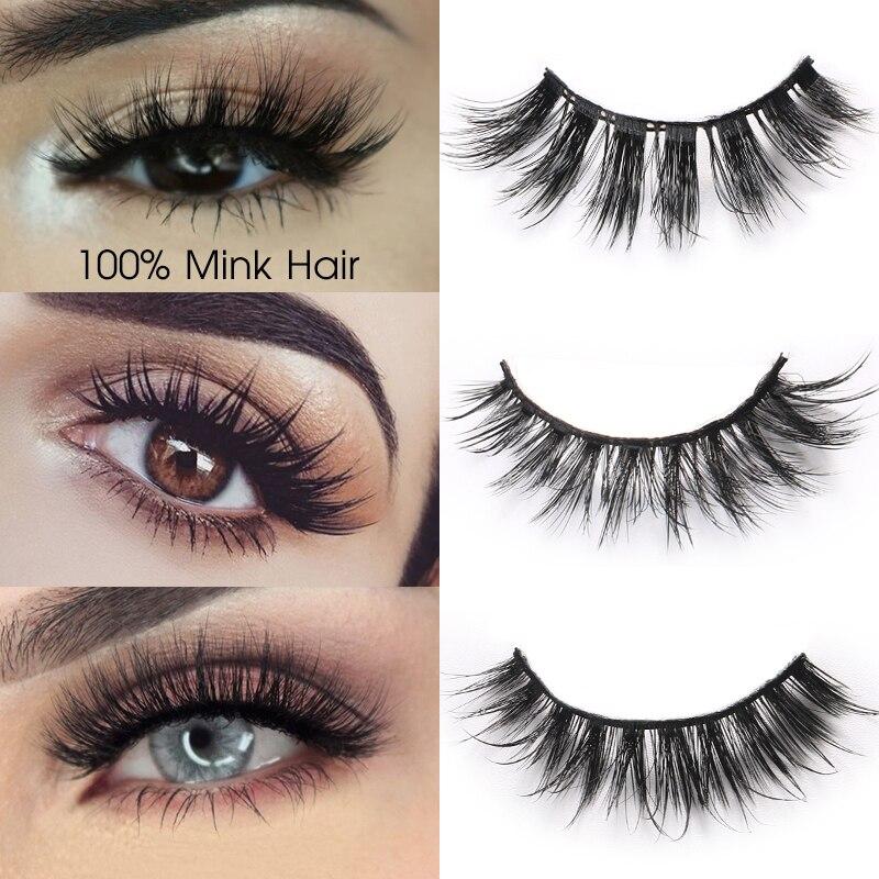 3D Mink Eyelashes Extensions Long Natural Mink False Eyelashes Hand Made Full Strip Eye Lashes Fake Eyelashes Makeup