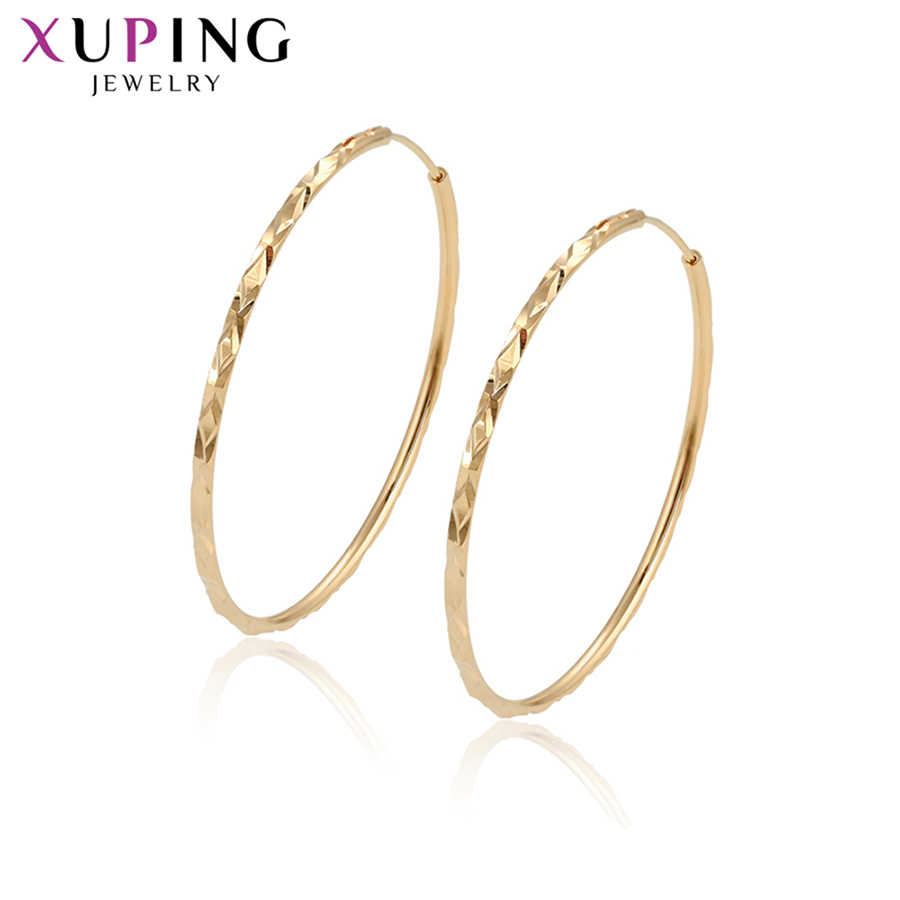 Xuping Elegant for Women New Arrival Gold-color Plated Vintage Popular Hoop Earrings Jewelry Mother's Day GiftS133.3- 97383