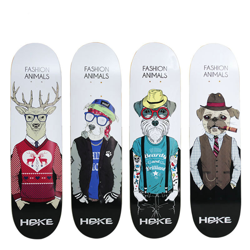 31*8in Canadian Maple Skateboard Deck Promotion Men Skateboard Deck Double Rockers
