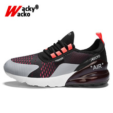 цена на Wacky Wacko 2019 Summer New Casual Shoes Men Sport Shoes Breathable Comfortable Height Increasing Outdoor Running Big Size 39-46