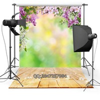 Thin Vinyl Photography Background Customize Spring Flowers Backdrops Digital Printing Background For Photo Studio F 2343