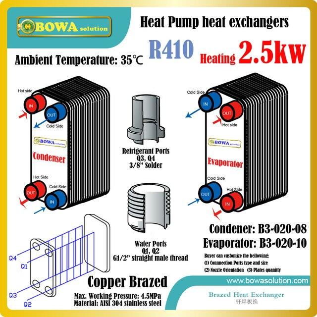 Aliexpress.com : Buy 8500BTU heat pump water heater R410a heat ...
