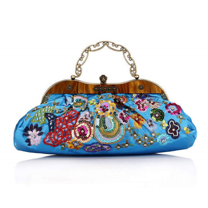 Clutch Bags Beaded Embroidered Chain Bags