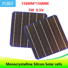 100PCS 5BB 5W 0.5V A Grade 156 * 156MM PV cheap Monocrystalline Silicon Solar Cells 6x6 490W For DIYсолнечные батаре Solar Panel silicon nanowires for hybrid solar cells