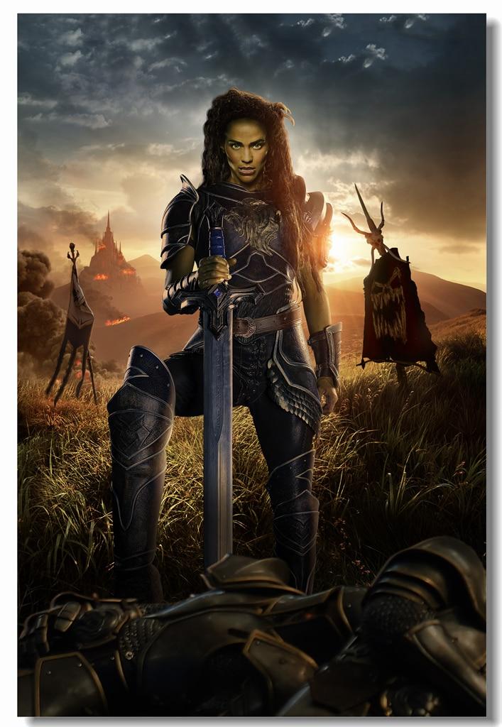 Custom Canvas Wall Decals Wow Garona Paula Patton Poster Warcraft