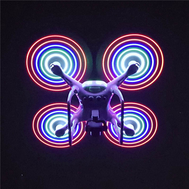 1 Pair LED Light Flash Propeller USB Charging For DJI Phantom 4 Pro Pro+ Drone Accessories High Quality Light Weight Hardness