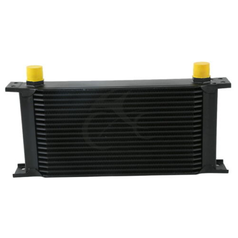 NEW BLACK UNIVERSAL 19 ROW AN 10AN ENGINE TRANSMISSION RACING OIL COOLER BRITISH Motorcycle Accessories