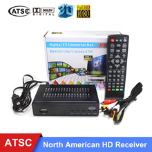 ATSC Satellite Receiver HD Digital DVB ATSC LNB TV Tuner Receivable MPEG4 TV Receiver Suit for Mexico USA Canada Support bisskey