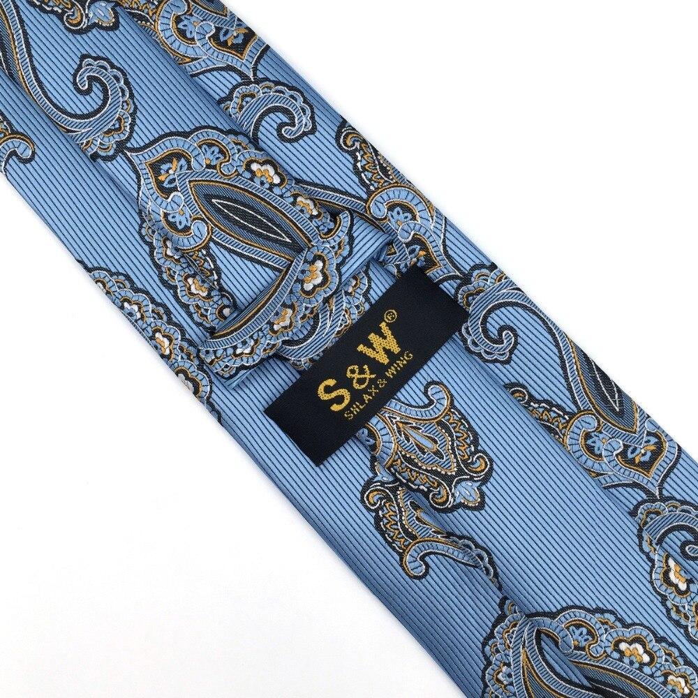 ab9320f9b6ea P3 Extra long size Paisley Blue Azure White Yellow Black Mens Neckties Set  100% Silk Jacquard Woven Fashion Ties for men 63
