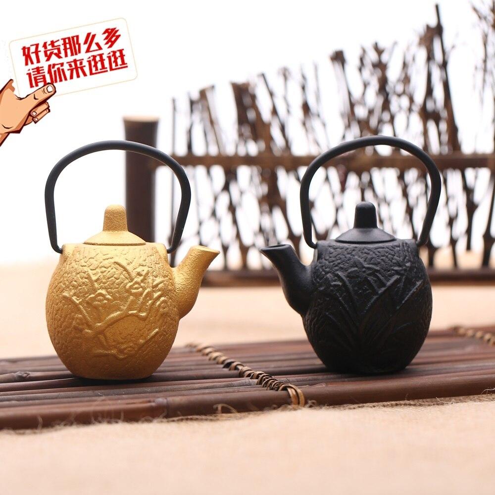 green tea pot  bottle small japanese teapot Orchid mini iron pots cast teapots orchid palm Japan special