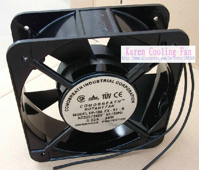 FP-108EX-S1-B38W AC 220V 38W 15CM 15050 ac Cooling Fan