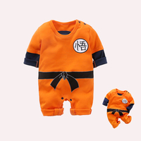 YiErYing Baby Clothing 2018 New Newborn Romper Dragon Ball Cartoon Print Cotton Long And Short Sleeve
