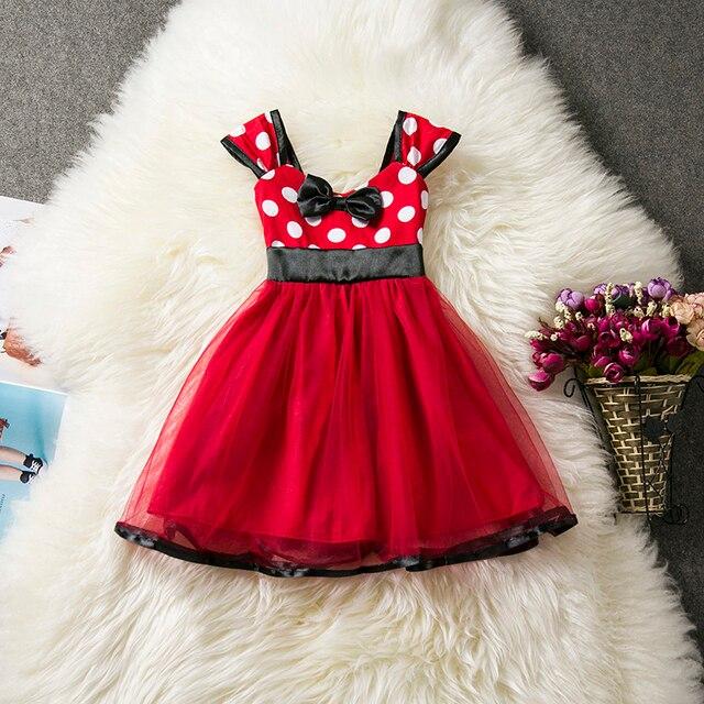 74f79145b Recién Nacido bebé niña Polka Dots vestido bebé niña 1 año cumpleaños  fiesta vestidos niño niñas