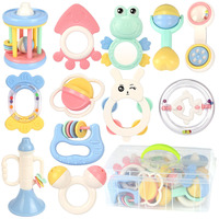 12pcs/set Baby Toys Safe Newborn Teether Hand Bells 0 12 Months Teething Development Infant Early Educational Baby Rattles Toys