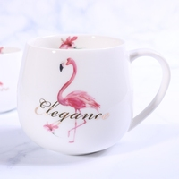 300ML Mugs Creative Flamingos Single Water Cup Advertising Student Gift Cup Christmas Mugs Ceramic Coffee Cups