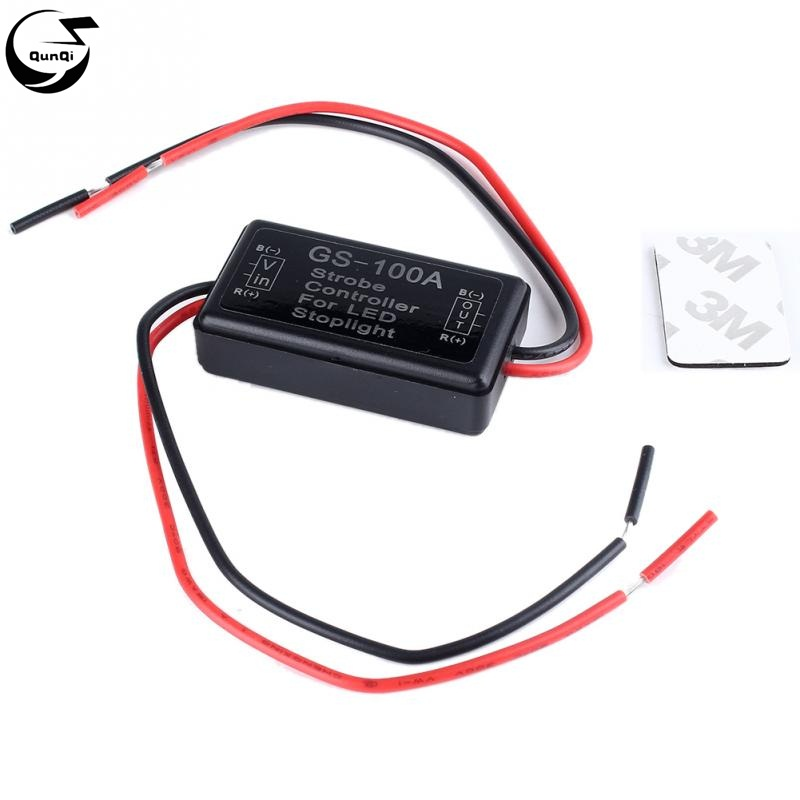Flash Strobe Controller Flasher Module for LED Brake Tail Stop Light Lamp 12V for Car Automobiles Motorcycles Truck
