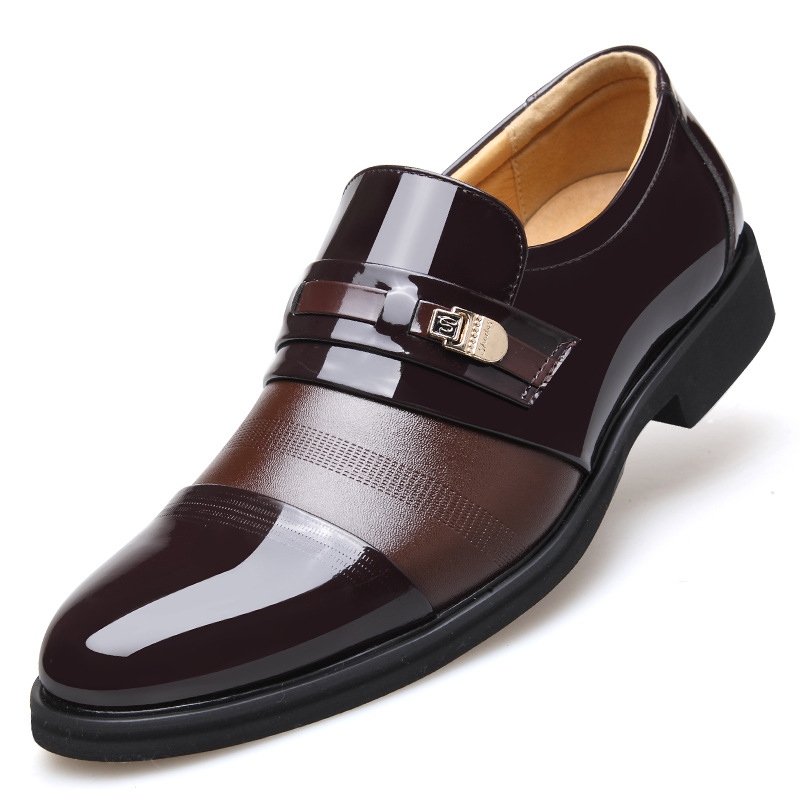 Luxury Brand Man Flat Shoes British Style Fashion Business Casual Leather Shoes Men Dress Party