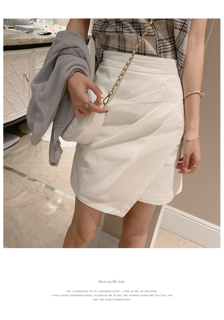 Bottoms High Waist White and black Mini Pleated casual Skirt