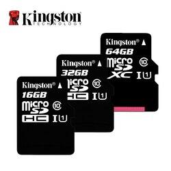 Kingston микро Флэшка флеш-карты памяти TF 16 Гб оперативной памяти, 32 Гб встроенной памяти, 64 ГБ 128 ГБ 256 Гб класс 10 80 МБ/с. C10 UHS-I мини SD карты 8 Гб карт...