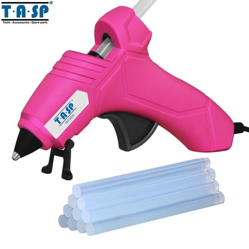 TASP MGG03K 220 V FAI DA TE Mini Hot Melt Glue Gun con 10 pz 7mm Colla Stick Ad Alta Temperatura di Fusione Kit di Riparazione per lavori di Bricolage