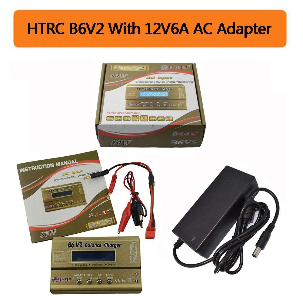 HTRC Imax B6 V2 80 w Digital profesional batería Balance cargador Discharger para LiHV LiPo LiIon vida NiCd NiMH PB de la batería