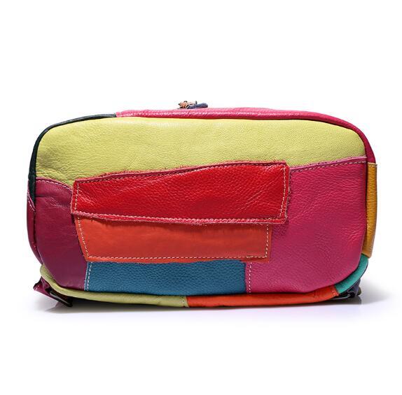 HTB1vU2EFeuSBuNjy1Xcq6AYjFXaE Fashion backpack leather stitching retro ladies backpack in Europe and America