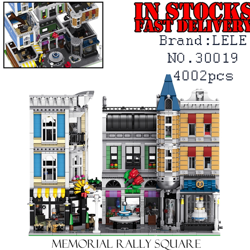 LELE City 30019 4002PCS Memorial rally square Building Blocks Bricks enlighten toys for children Birthday gifts brinquedos lepin city town city square building blocks sets bricks kids model kids toys for children marvel compatible legoe
