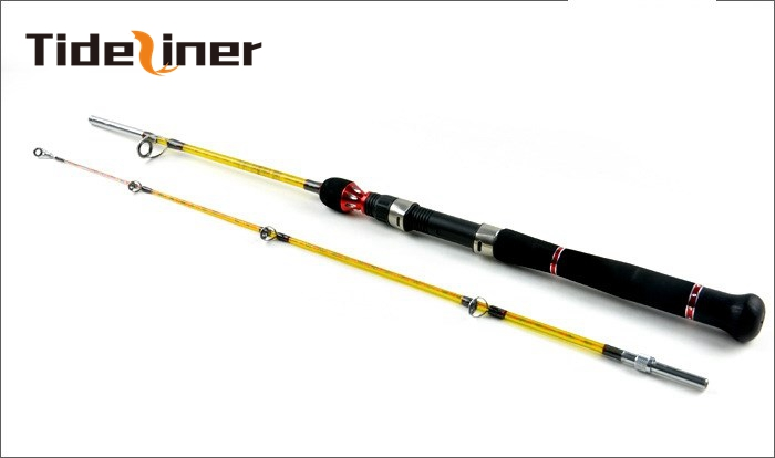 Tideliner 1 8m 2 1m 2 4m boat fishing rod 2 sections seafishing trolling jigging lure