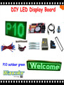 free shipping DIY LED text sign 20pcs p10 outdoor LED display green color module+ power supply+controller +frame+corner+cables