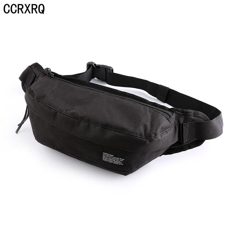 CCRXRQ Nylon Waist Bag Women Handy Men Belt Bag 2019 Fashion Unisex Fanny Pack Black Waist Pack Phone Coin Crossbody Chest Bags