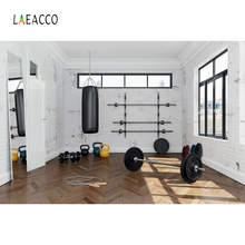 Laeacco Gym Sport Equipment Indoor Backdrop Photography Backgrounds Customized Photographic Backdrops Props For Photo Studio цена