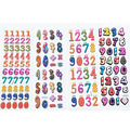 10pcs Educational Numbers Bubble Sticker Diary Digital Cartoon Stickers For Children Kids Notebook Girls& Boys Classic Toys B586