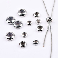 Copper silicone flat beads DIY earrings bracelet sweater chain adjust the length of the chain buckle positioning bead material a suit of graceful multilayered beads sweater chain and earrings for women