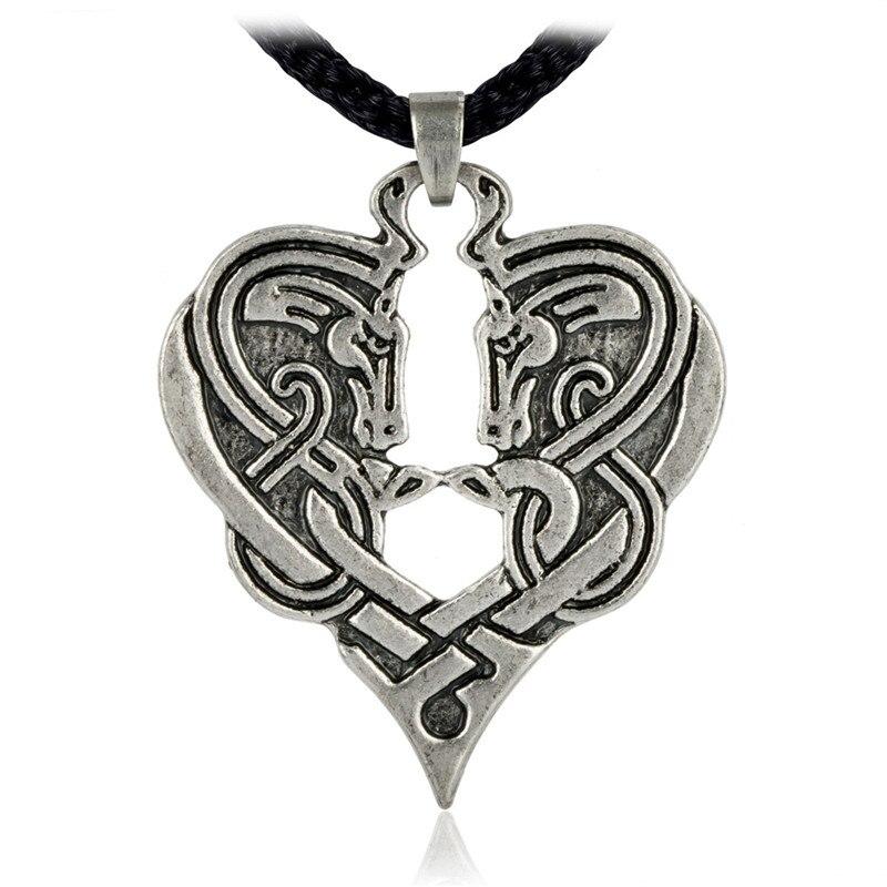 Horse Heart of Destiny Knot Pendant Equine Jewelry Goddess Epona Rune Necklace
