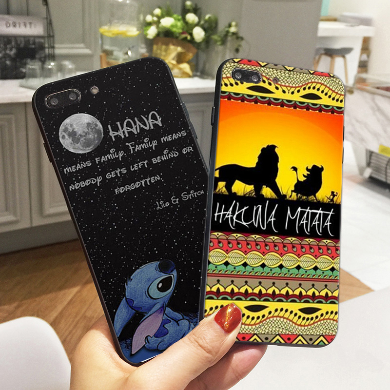 Lilo Stitch Ohana Cases for iPhone 7 Case Hakuna Soft Silicone Phone Cover for iPhone 6 6S 5S XR XS Max SE 8 Plus X Coque Fundas