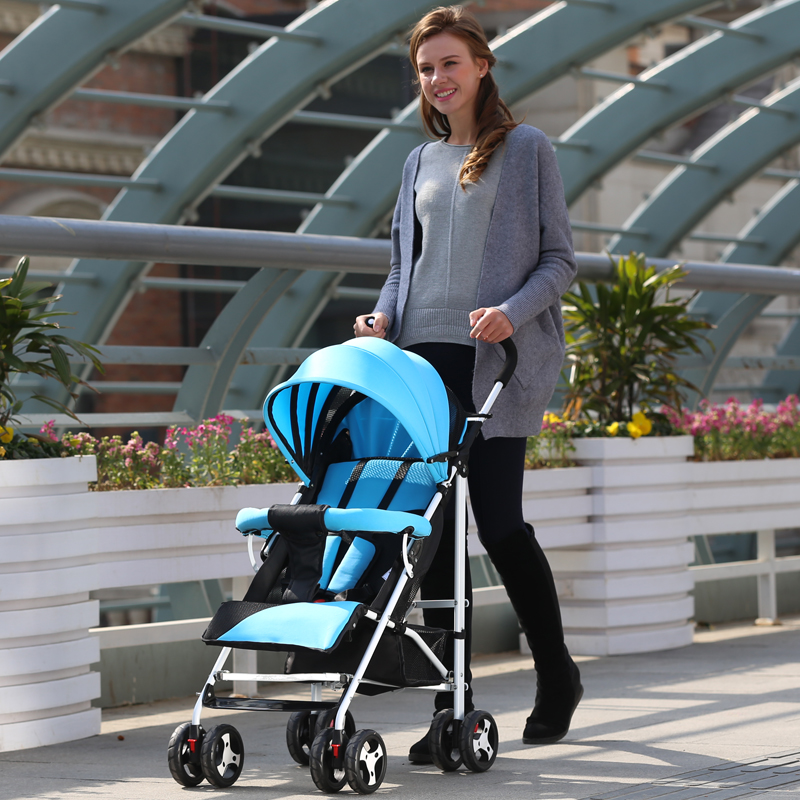 High Landscape lightweight Baby Stroller Portable Folding Baby Cart Can Sit Lying Shockproof Prams Pushchairs for Newborns super light luxury baby stroller high landscape folding baby car shockproof portable prams and pushchairs for newborns 4 2kg