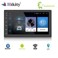 Hikity 2 din Car radio 7'' GPS android Bluetooth MP5 Multimedia player WIFI mirror link auto radio FM/AUX/USB 2din Rear Camera