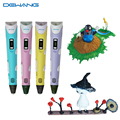 Dewang patente 3d plumas promoción diseños de impresión de dibujo pen for kids regalos juguete mágico 3d impresora pluma