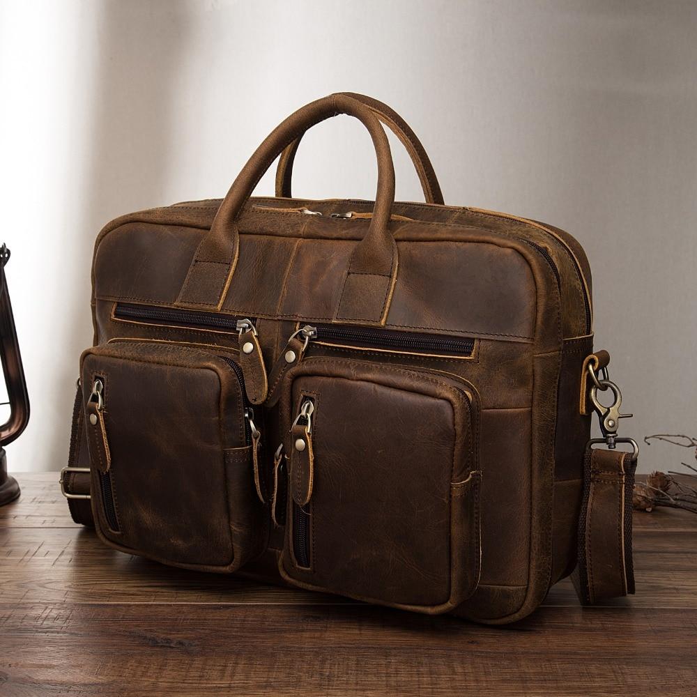 Original Leather Fashion Business Briefcase Messenger Bag Male Design Travel Laptop Document Case Tote Portfolio Bag K1013-d